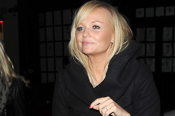 Baby Spice has had a serious stiletto accident