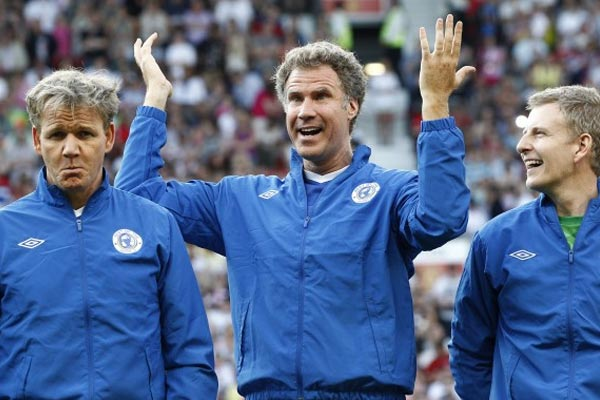 Will Ferrell & Gordon Ramsay injured in celebrity soccer game