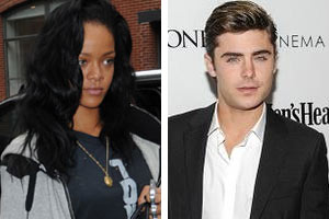Rihanna and Zac Efron