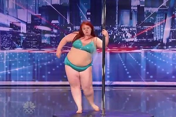 Plump pole dancer auditions for America's Got Talent