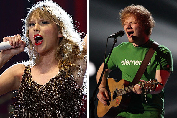 Taylor Swift sings 'Lego House' with Ed Sheeran