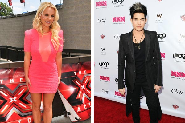 Britney Spears and Adam Lambert