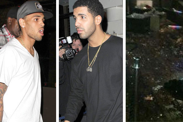 Chris Brown & Drake get in to fight at New York club