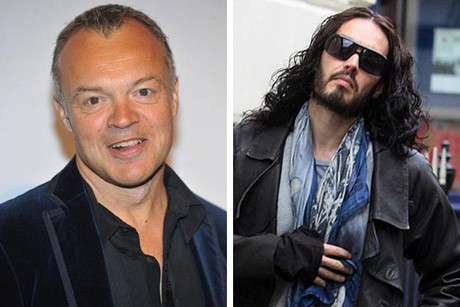 Graham Norton and Russell Brand