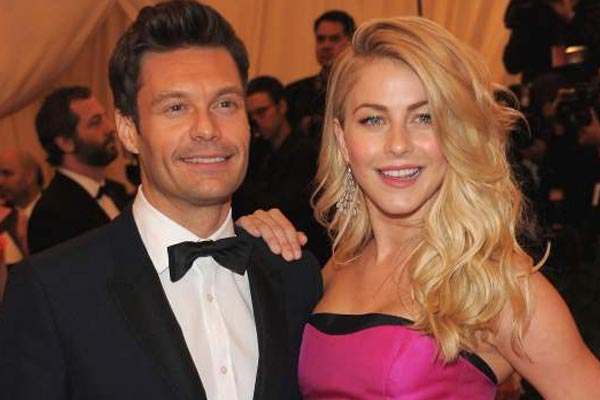 An awkward moment between Ryan Seacrest and his fianc&#233;e ON AIR!