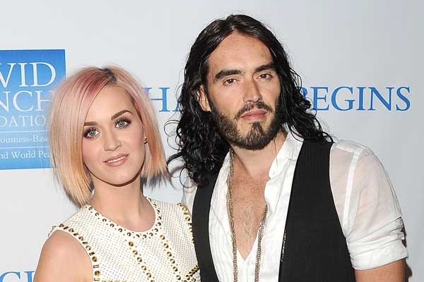 Russell Brand sasses Katy Perry at his show