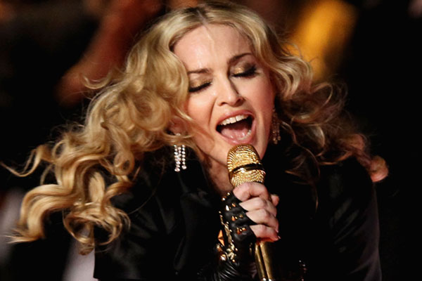 Madonna throws a raucous party