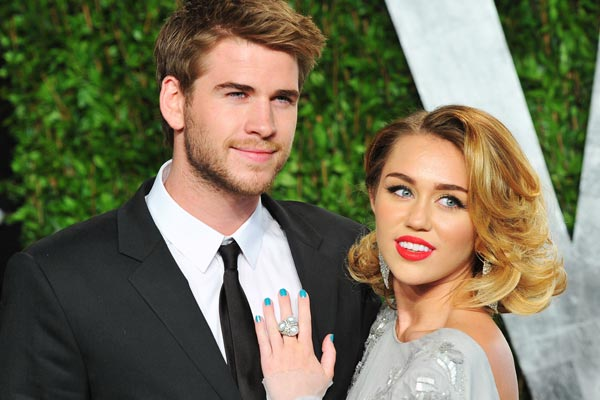 Miley gets approval from the Hemsworths