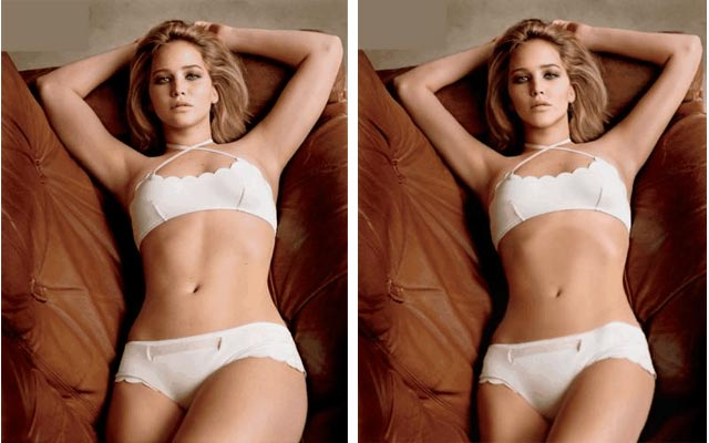 Jennifer Lawrence gets photoshopped