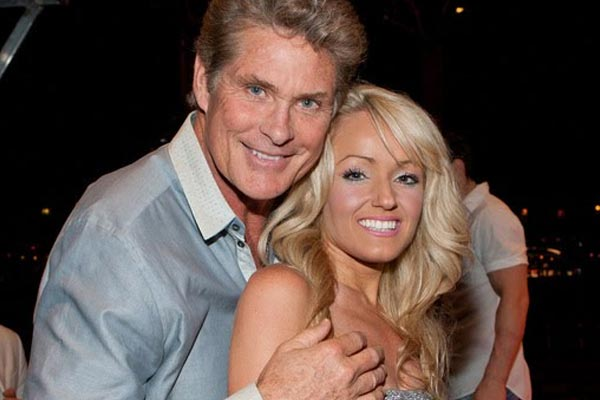 David Hasselhoff's girlfriend rescues a man from the sea