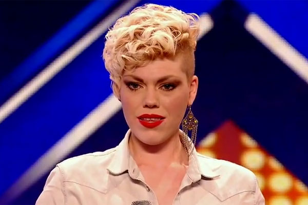 X-Factor contestant's temper tantrum on stage