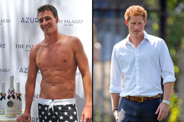 Prince Harry raced Ryan Locte in the pool