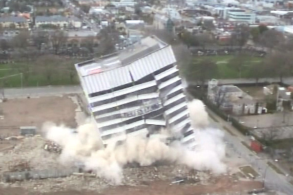 Christchurch building implodes