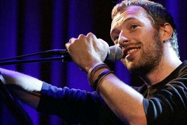 Guess who Chris Martin tests his music on