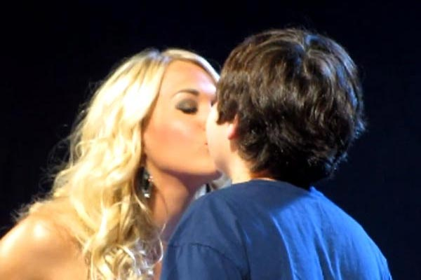 Former American Idol gives 12 yr old his first kiss