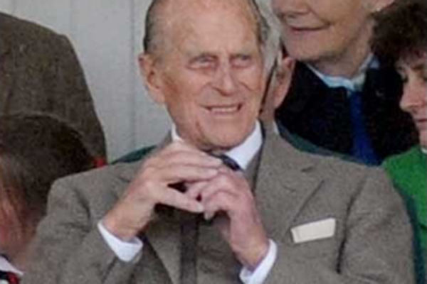 Another royal shows his jewels after a wardrobe malfunction
