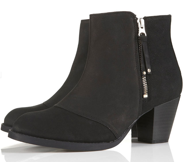 These Mighty Leather Boots from topshop.com are only $86 and are super similar to the Acne boots