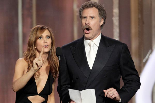 Will Ferrell &amp; Kristen Wiig's hilarious Golden Globes moment