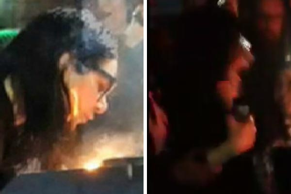 Skrillex accidentally sets his hair on fire while blowing out his birthday cake candles!