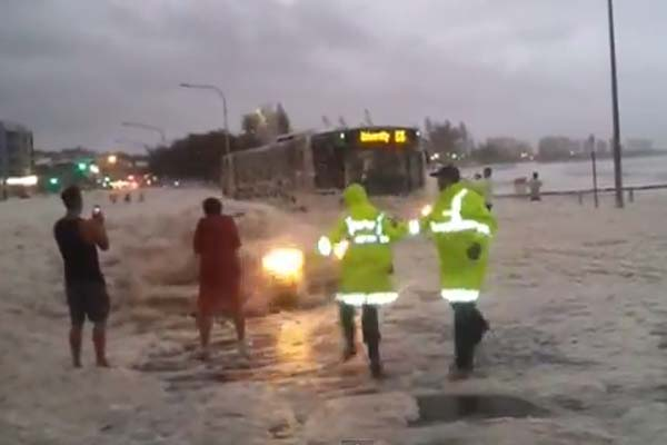 Cops get the suprise of a lifetime during Australia's recent bad weather