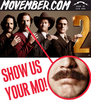 Show us your Mo for your chance to be at Anchorman 2 premiere in Sydney!