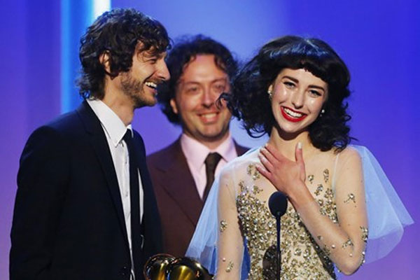 Kimbra & Gotye take home two Grammys