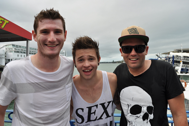 Brad and Marty get wet with Reece Mastin