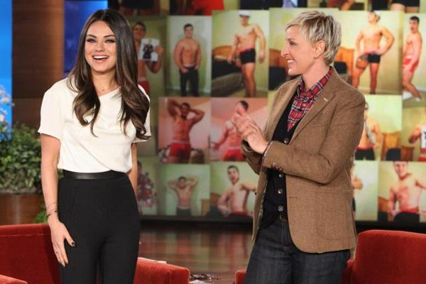 Ellen teases Mila Kunis about Ashton