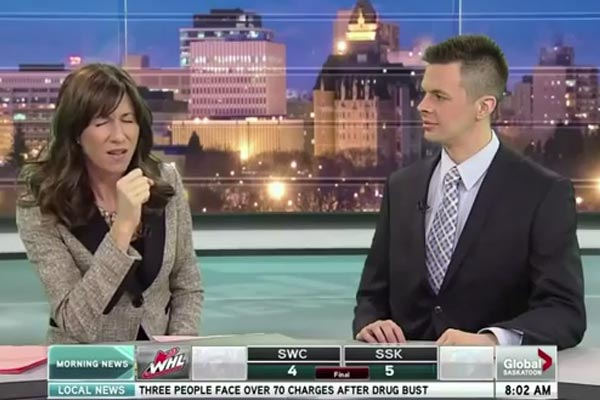 News anchor makes rude hand gestures without knowing live on air (NSFW)