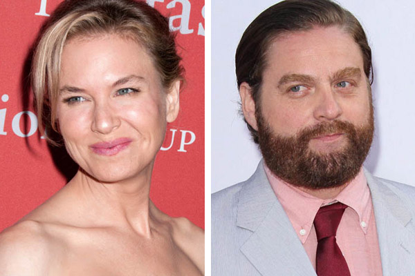 Zach Galifianakis and Renee Zellweger are supporting a homeless woman