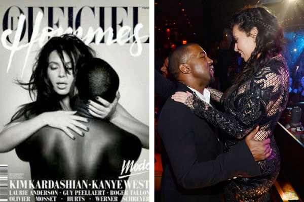 Kim and Kanye get naked for magazine shoot