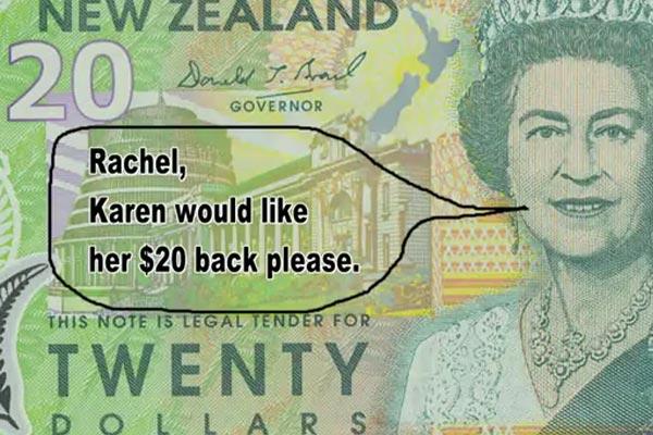 Karen wants her $20 back