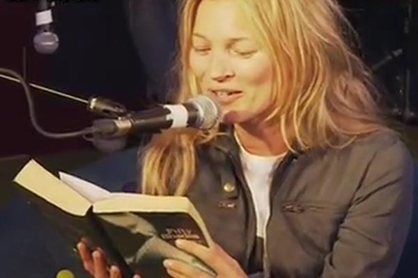 Kate Moss reads Fifty Shades Of Grey live on radio