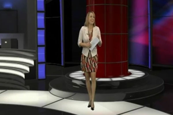 Newsreader doesn't realise she's reading her own marriage proposal live on air