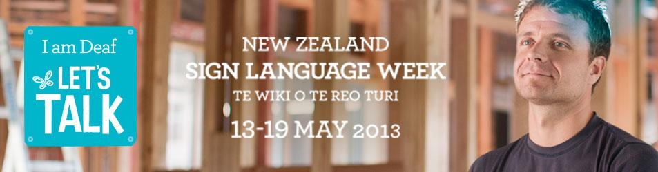 Deaf Aotearoa - New Zealand Sign Language Week 2013