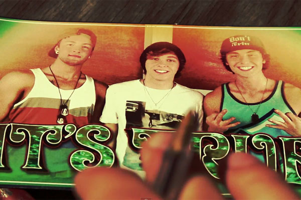 X-Factor trio Emblem3 with Chloe (You're The One I Want)