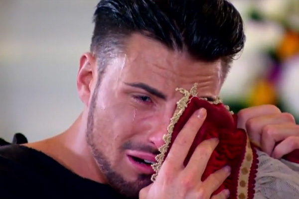 Grown man crying on X Factor UK