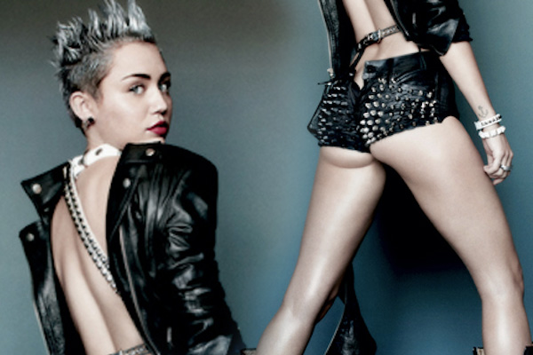 Miley gets sluzzy on the cover of V