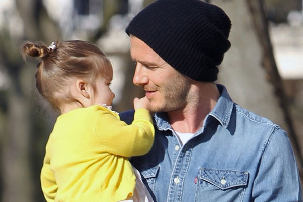 David Beckham loves dressing his daughter