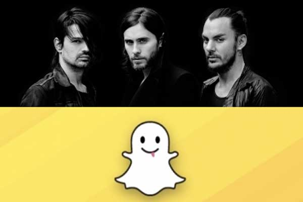 30 Seconds to Mars launch SNAPCHAT promo for NZ fans
