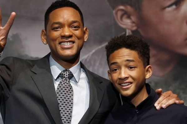 What made Jaden Smith squel during an interview about his new movie