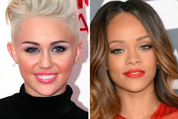 Miley &amp; Riri keen to make out