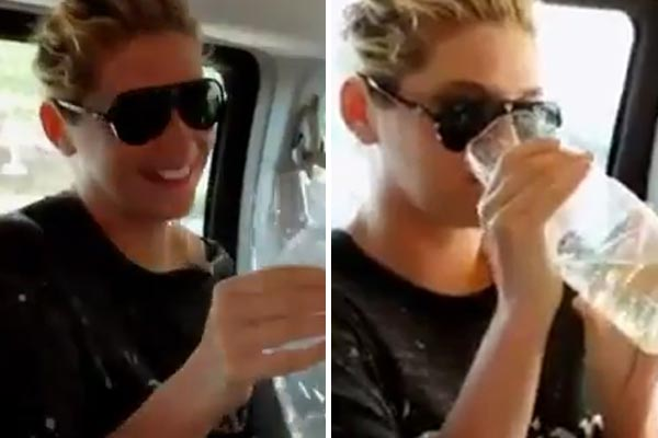 Ke$ha drank her own pee on TV!