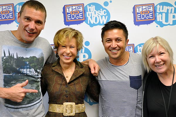 Yeardley Smith aka Lisa Simpson talks to Jay-Jay, Mike & Dom