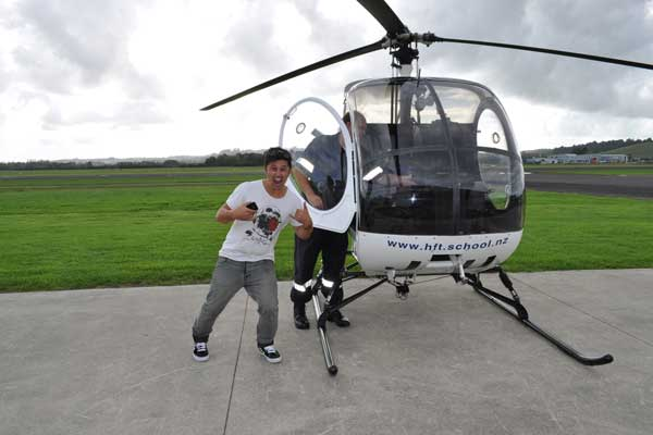 Homeboy in a Helicopter - Mike flies!