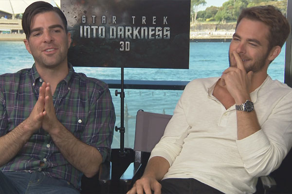 Zachary Quinto & Chris Pine chat to Fletch & Vaughan