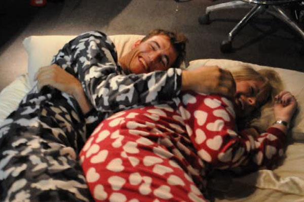 Blair Tuke's cuddle fest for Dice of Dare