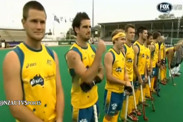 Aussie national anthem fail at World Hockey League