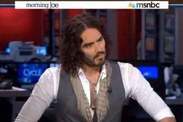 Russell Brand has a go at the hosts of an American TV Show for being rude to him