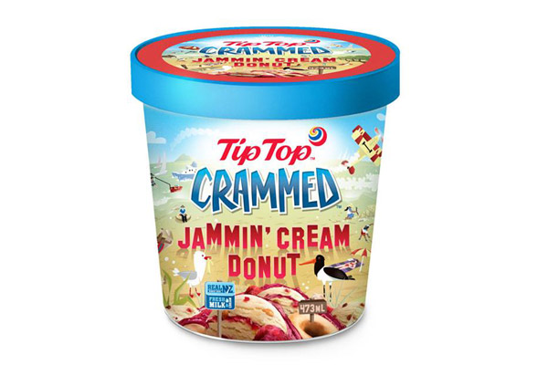 Win a years supply of Tip Top's Crammed Jammin' Cream Donut Ice Cream